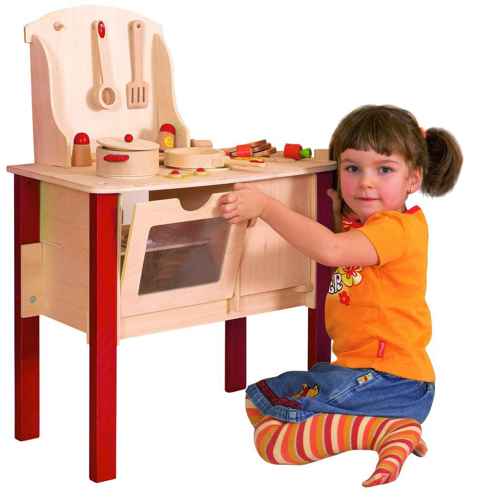 Speelgoed Keuken Intertoys : Houten speelgoed – Speelkeuken van hout